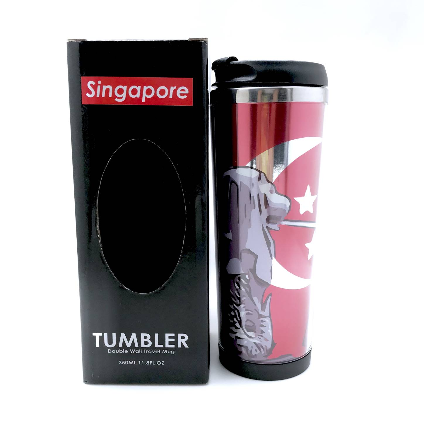 Tumbler-Posing with Merlion Package